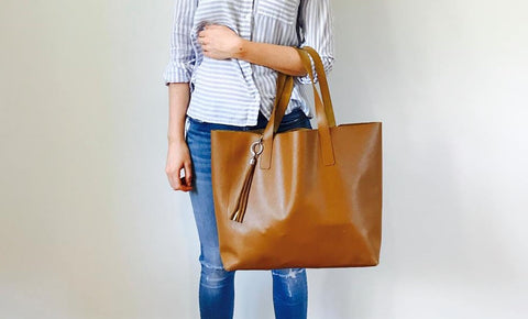 redmeg tan summer tote