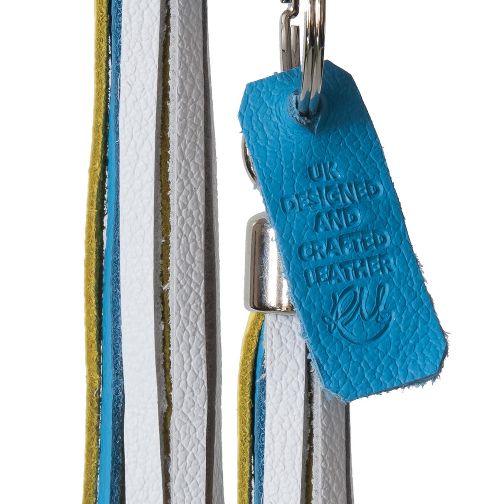 Copy of Bluebell Leather Tassel Key Ring / Bag Charm - Multi Coloured Biker