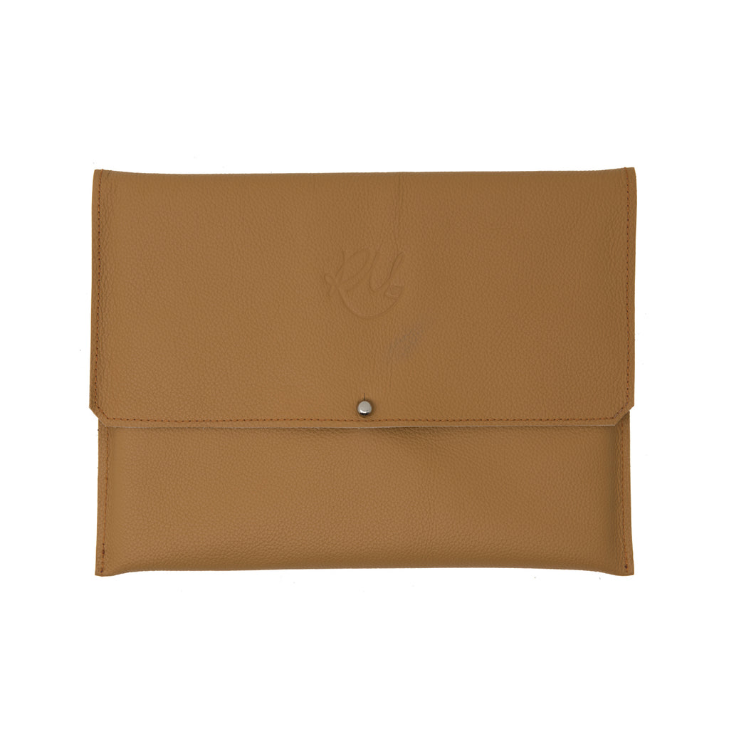 Dahlia Clutch bag - Tan motto leather
