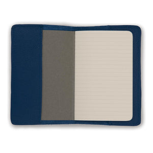 Leather Notebook - Royal Blue Biker