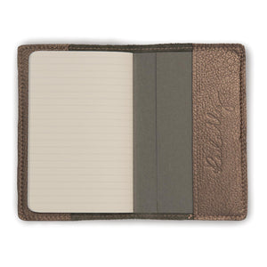 Leather Notebook - Pewter Vegas