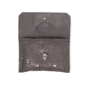 Dahlia coin purse - Omega metallic leather