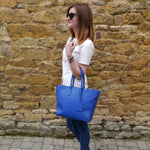 S/S 15 Sweet Pea Handbag in royal blue leather