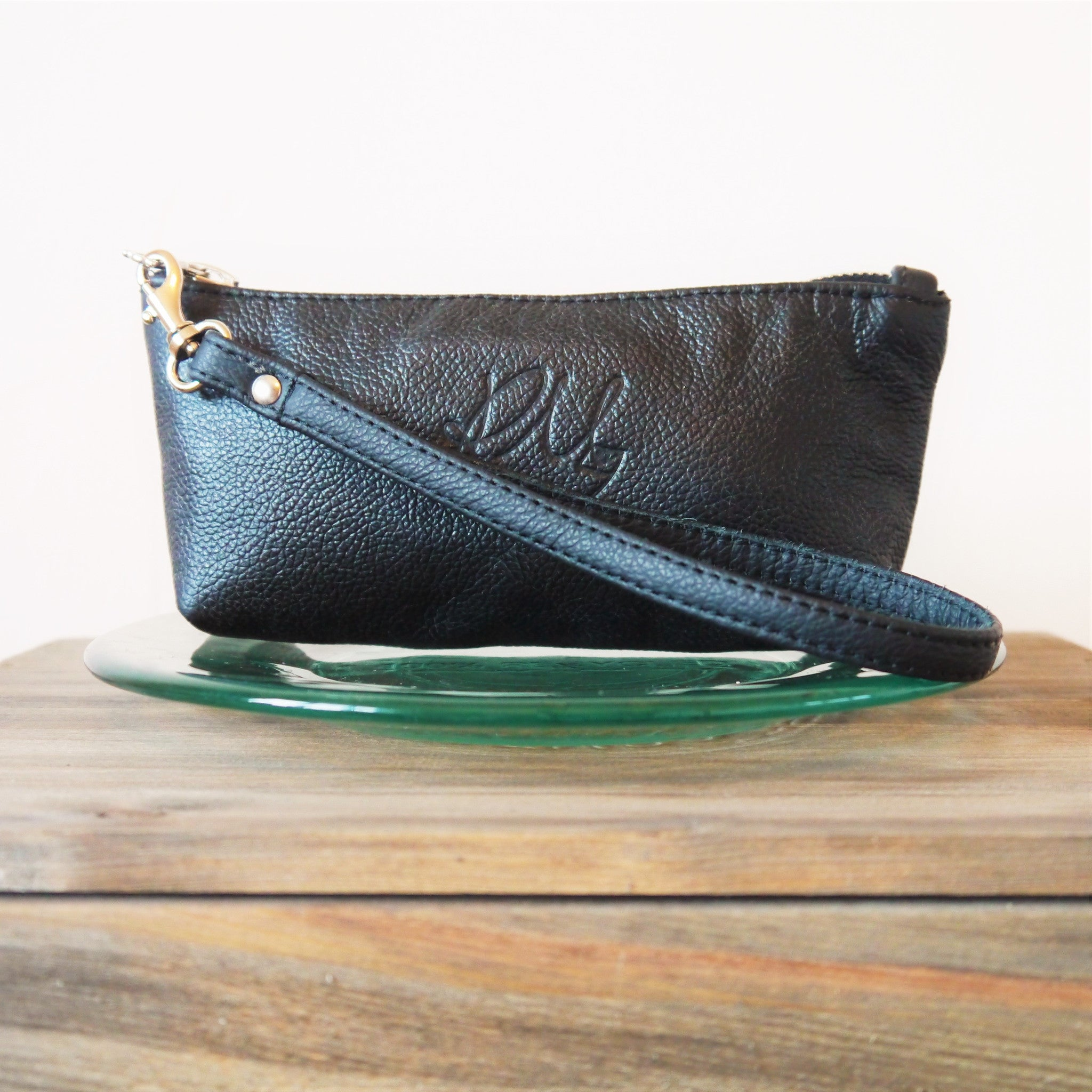 S/S16 Poppy small leather make up bag in - Black