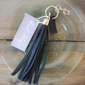 S/S '16 Bluebell Tassel Key Ring / Bag Charm - Black