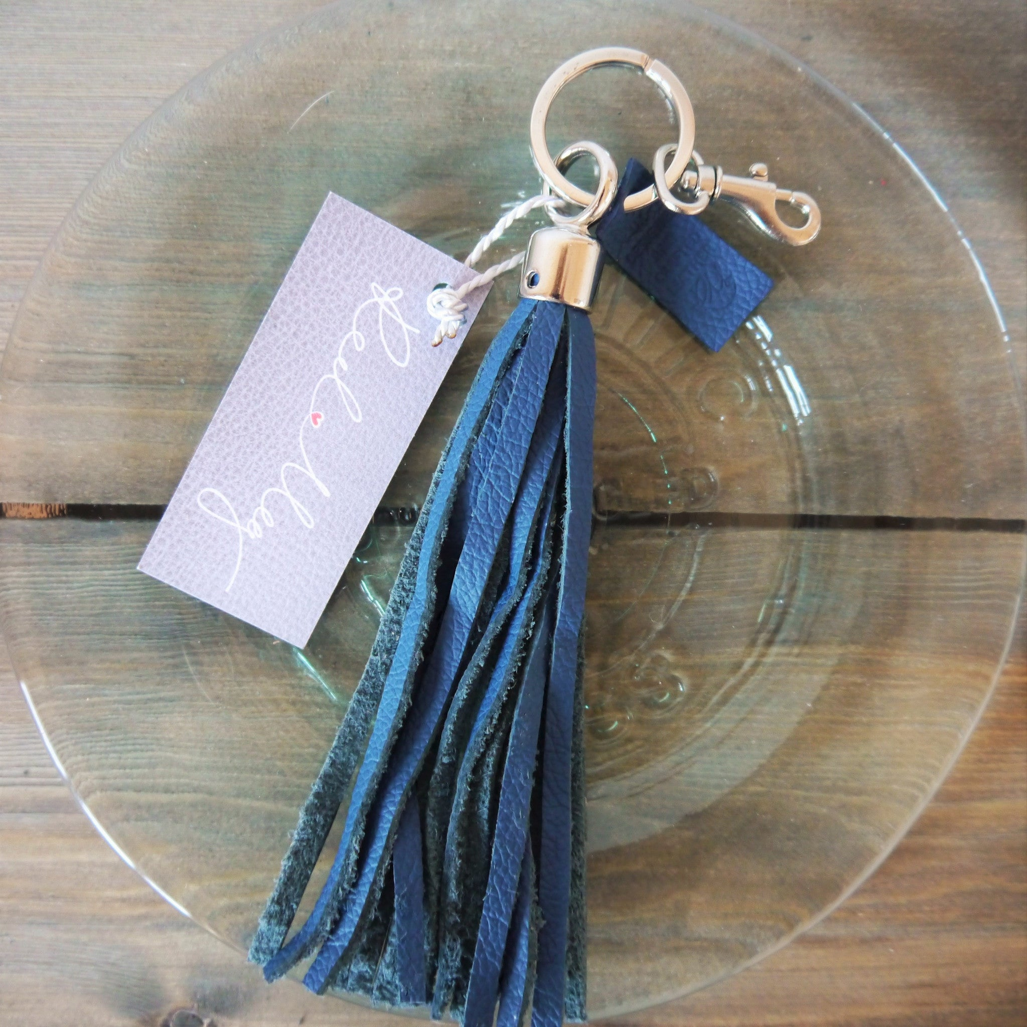 S/S '16 Bluebell Tassel Key Ring / Bag Charm - Navy