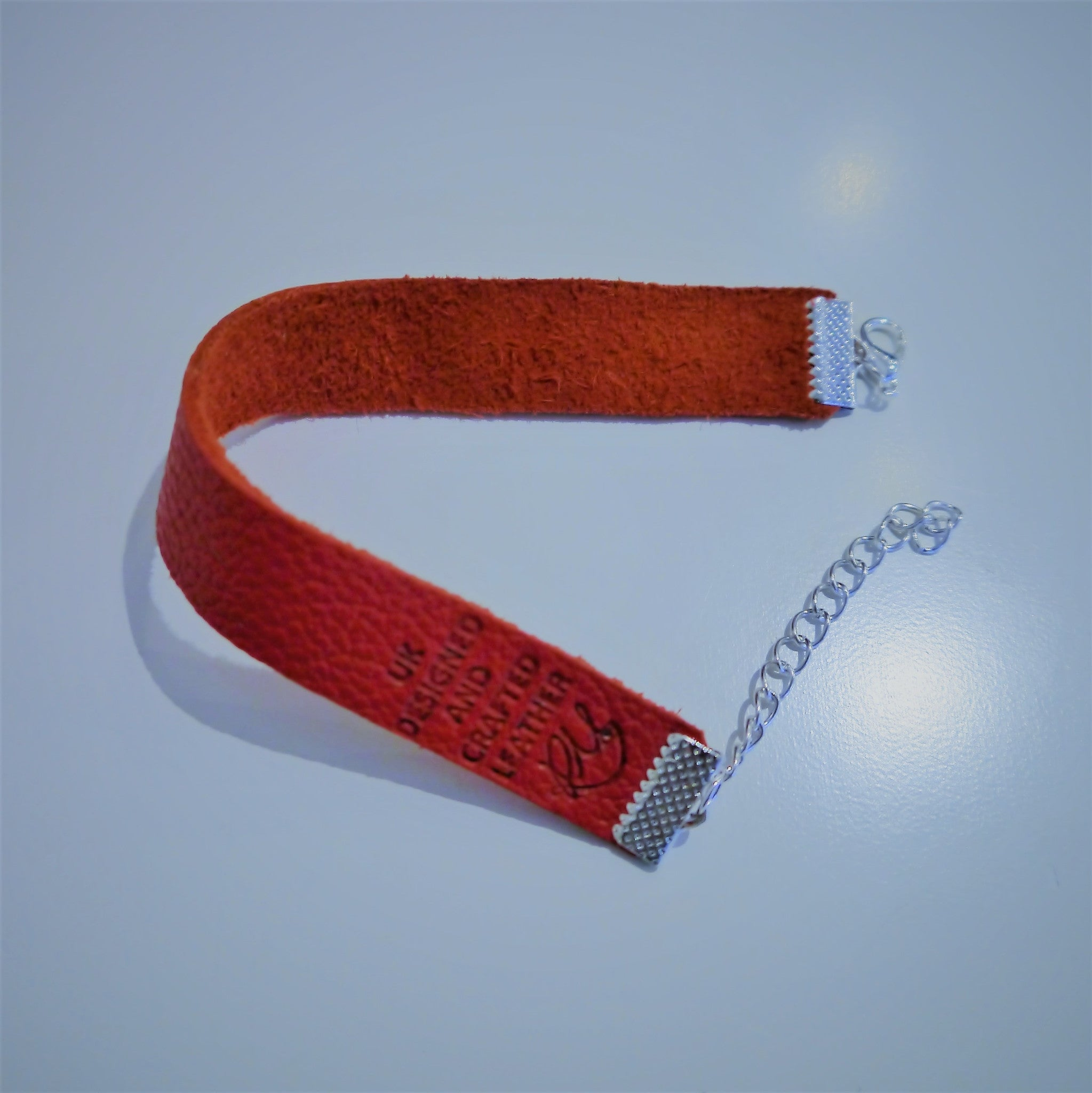 NEW IN - Leather bracelet - thin band - Red