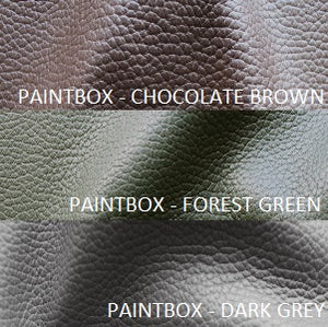 paintbox leather chocolate brown dark grey and forest green