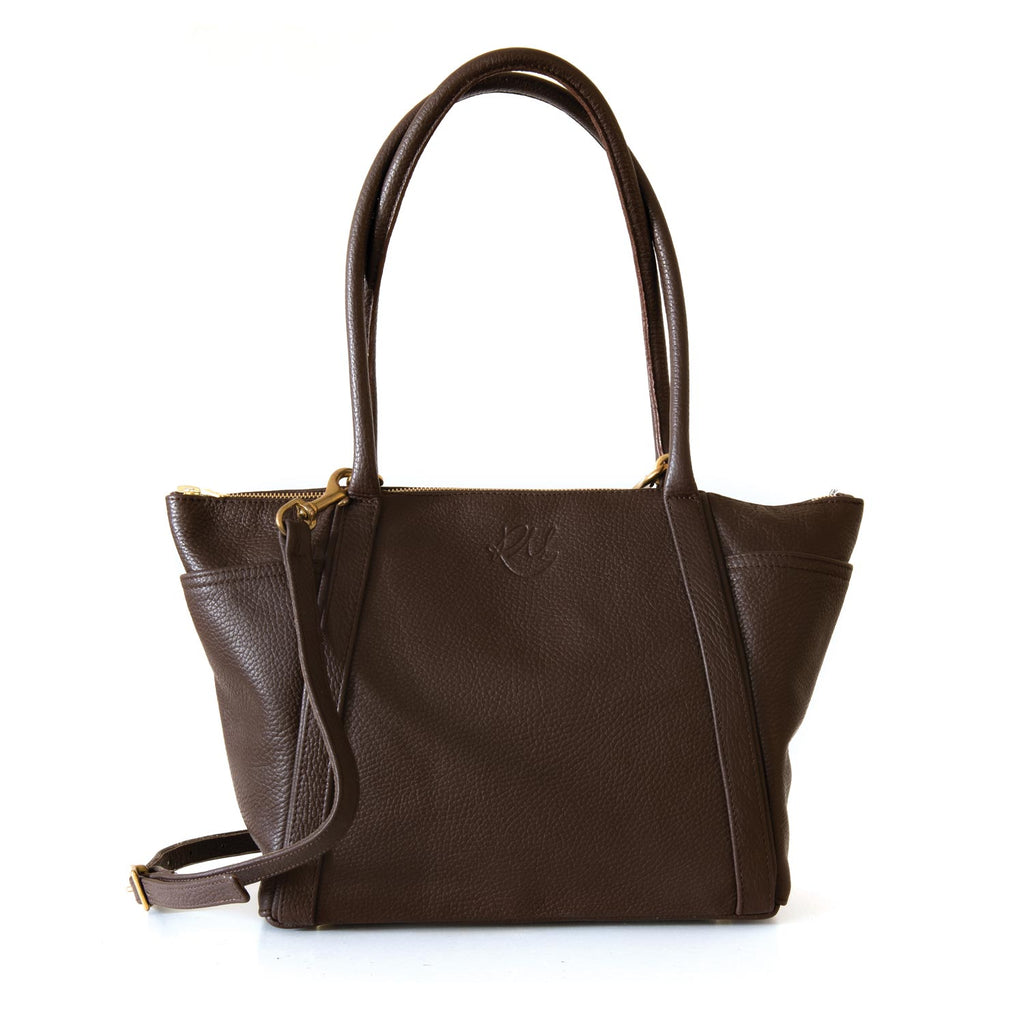Forget Me Not Handbag in chocolate brown