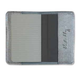 Leather Notebook - Silver vegas