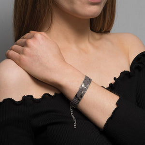 Sprinkle metallic suede bracelet - Thin band