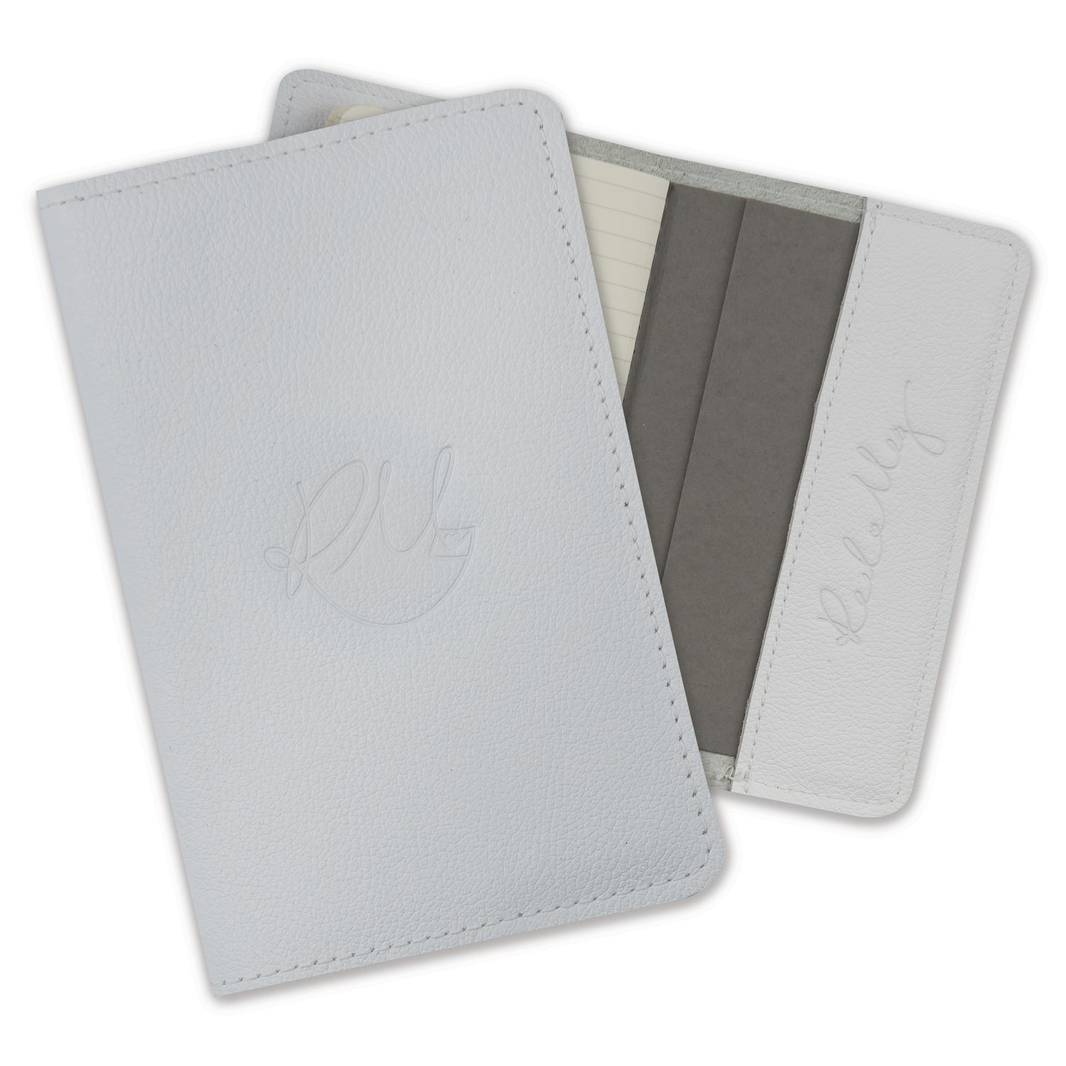 Leather Notebook - White Biker
