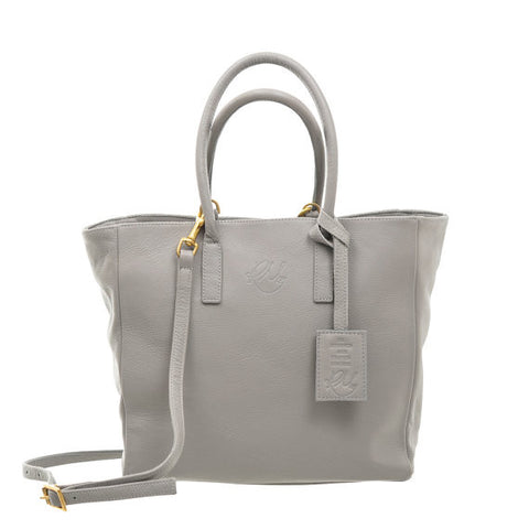 Sweet Pea Leather Handbag in Dove Grey Nassau Leather