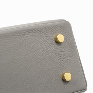 Sweet Pea Leather Handbag in Dove Grey
