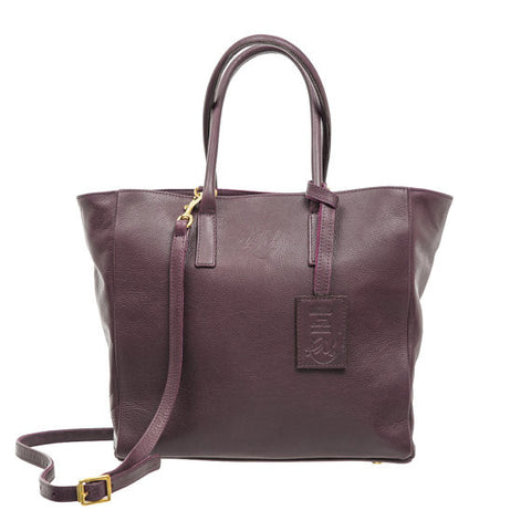 Sweet Pea Handbag in Wine Nassau Leather