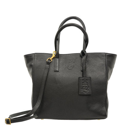 Sweet Pea Handbag in Black Nassau Leather