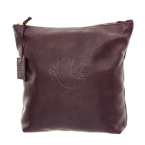 Poppy Make Up Bag in Wine - Large