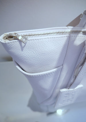 S/S 15 Forget Me Not Handbag in brilliant white leather