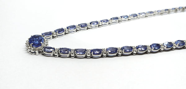 TANZANITE AND DIAMOND QUEEN NECKLACE AD NO 1879