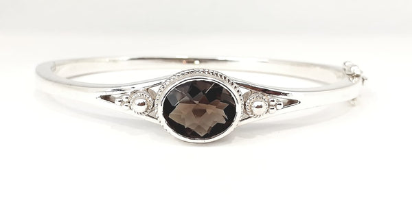 VINTAGE SMOKY TOPAZ BANGLE