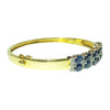 Double Row Sapphire & Diamond Bangle