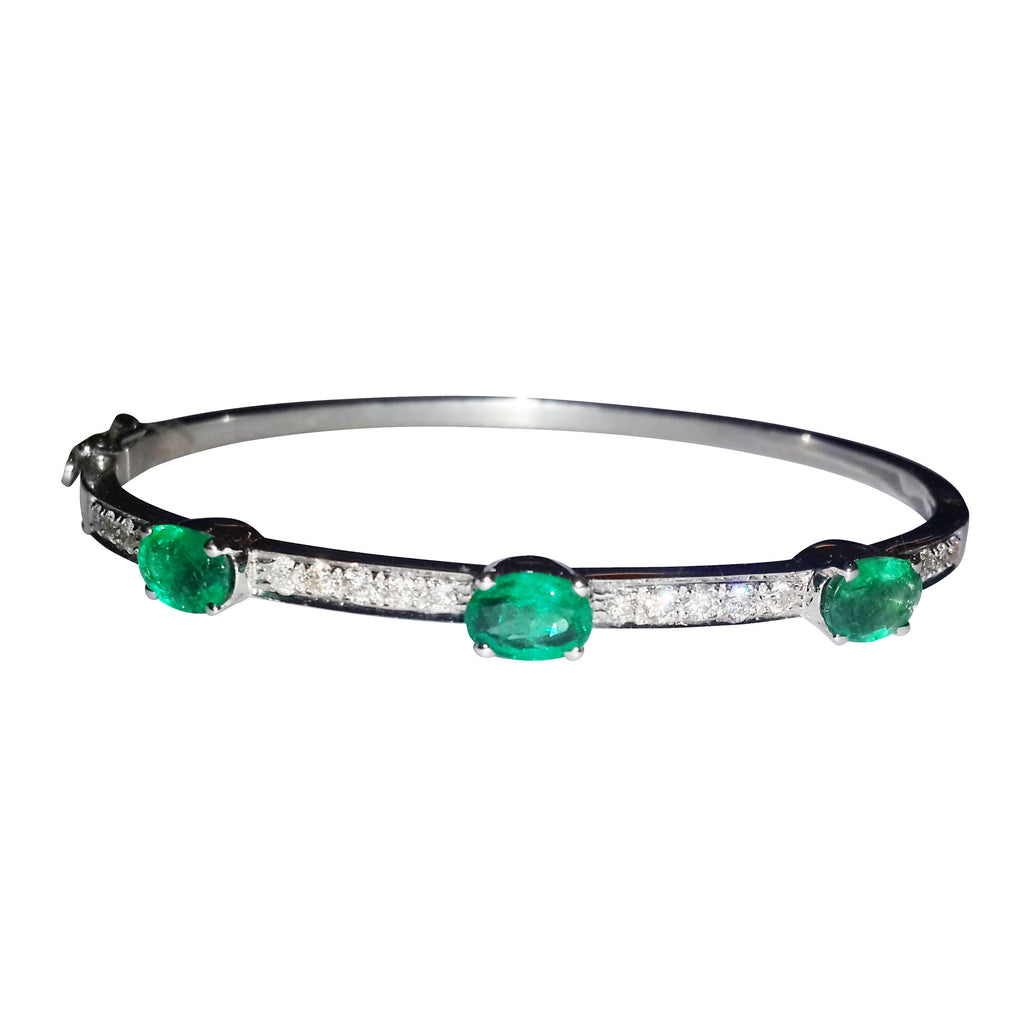 Emerald & Diamond Space Bangle