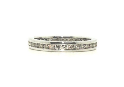 in gold three set stone bezel white diamond ring