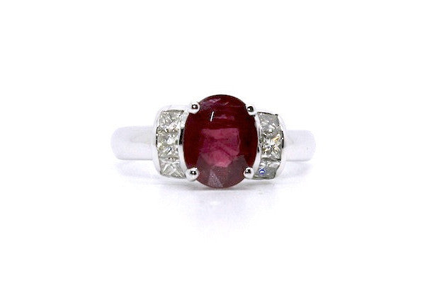 Ruby And Diamond Splendid Ring Ad No.0413