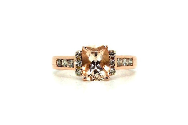 Morganite & Diamond Hotcake Ring AD No. 1087