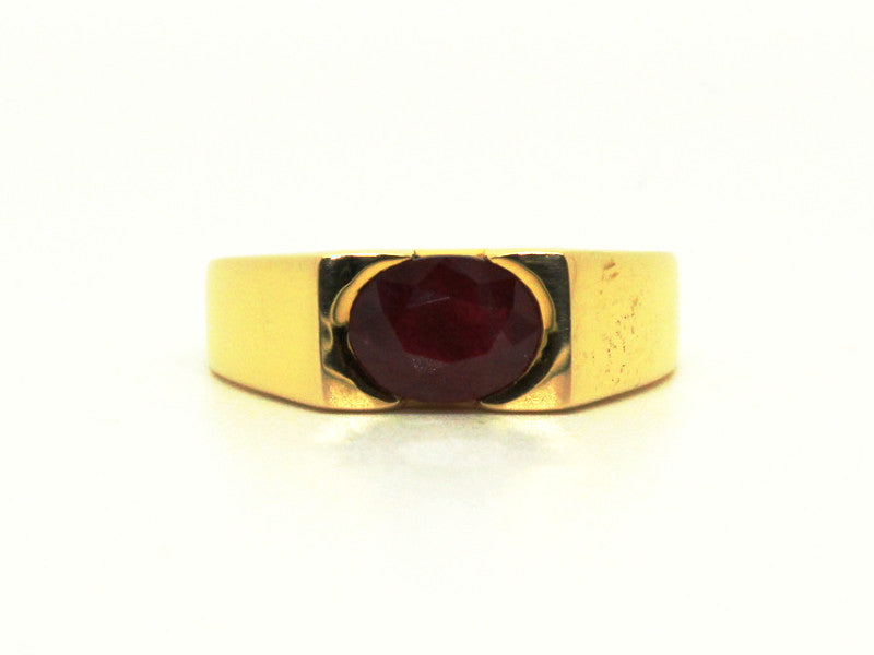 Ruby Unisex Flat Ring AD No. 0281