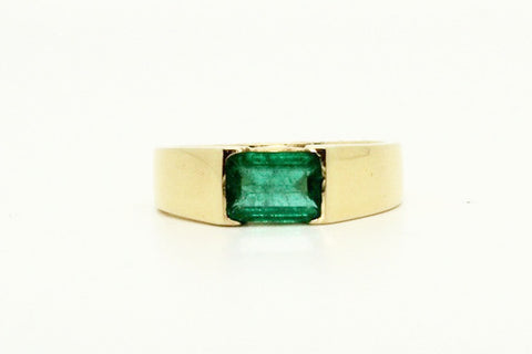 Emerald Unisex Flat Ring Ad No. 1123