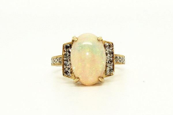 Opal And Pave Diamond Ring Ad No. 0806
