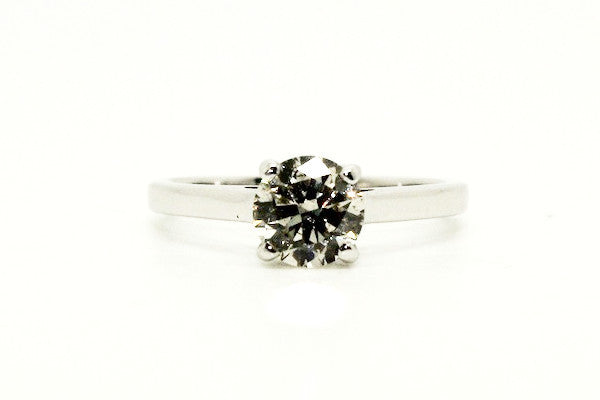 Classic 4 Prong Brilliant Cut Ring AD No. 0962