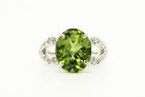 Peridot & Diamond Cart Band  AD No. 0448