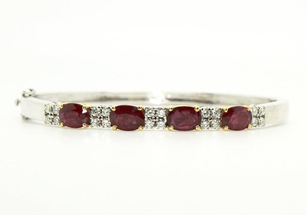 Ruby & Diamond  Bangle / Item code:BNG1