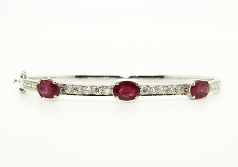 Ruby & Diamond Space Bangle