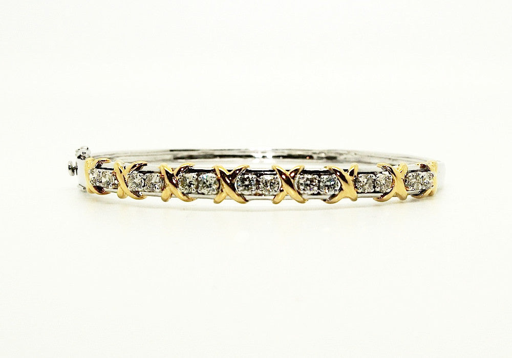 Diamond Kisses & Hugs Bangle