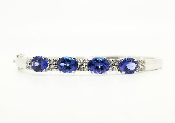 Tanzanite & Diamond  Bangle /Item code :BNG5