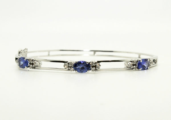 Tanzanite And Diamond Space  Bangle /Item code :BNG 6
