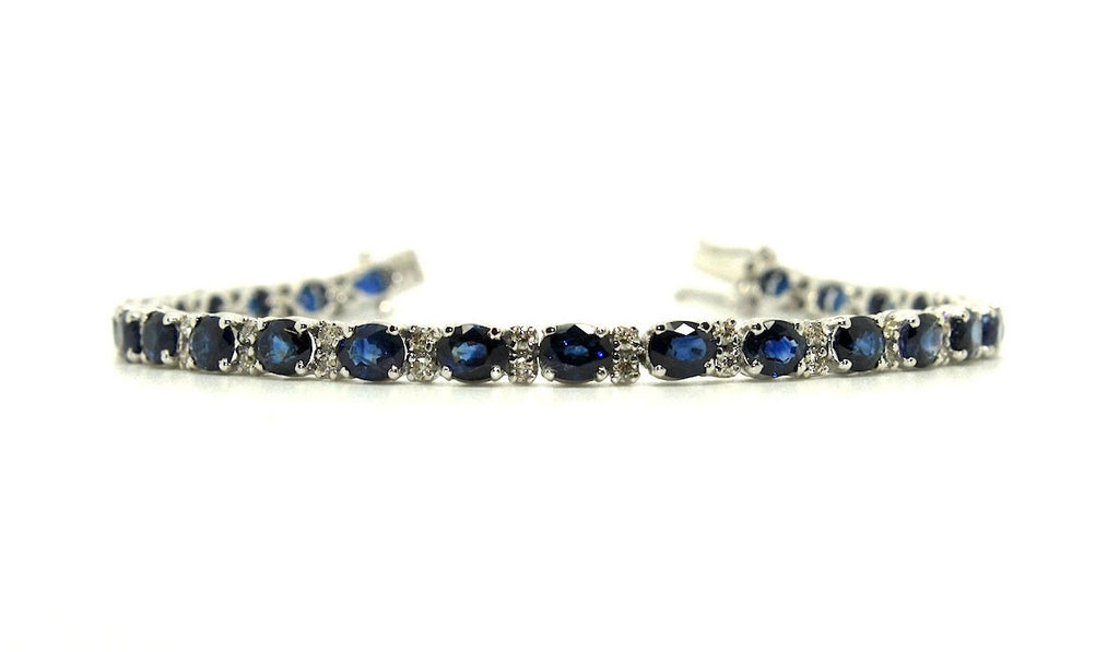 Blue Sapphire And Diamond Tennis Bracelet Ad No.1057