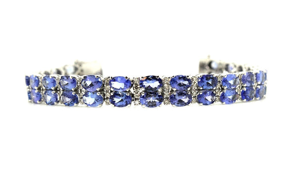 Tanzanite & Diamond Double Row Bracelet/Item code: BR 2