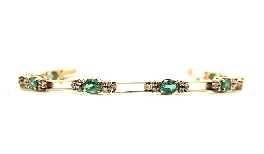 Emerald And Diamond Parallel Bracelet AD No. 0253