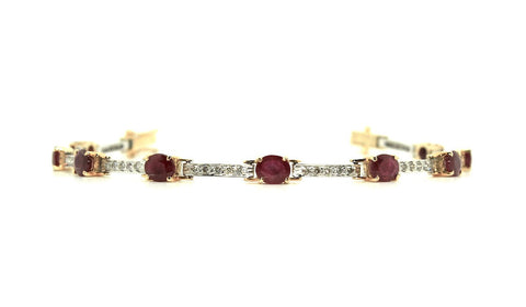 Ruby And Diamond Hot-cake Bracelet / Item Code: BR 5