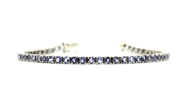 Plain Tanzanite Tennis Bracelet AD No. 0249
