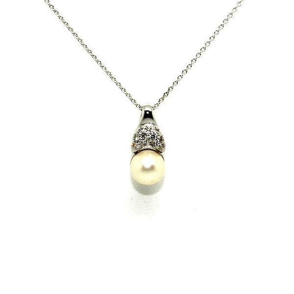 Pearl And Diamond Wrap Pendant Ad No.0838