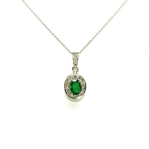 Emerald And Diamond Pave Cluster Pendant AD No. 0511