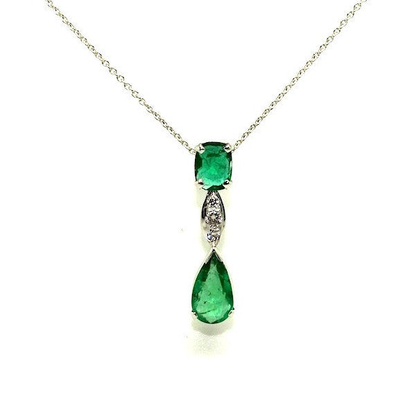 Emerald And Diamond Bridge Pendant AD No. 0491