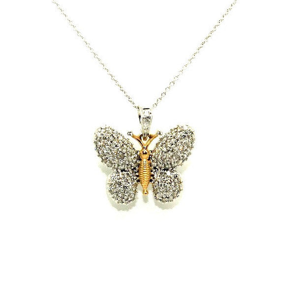 Diamond Butterfly Pendant Ad No.0873