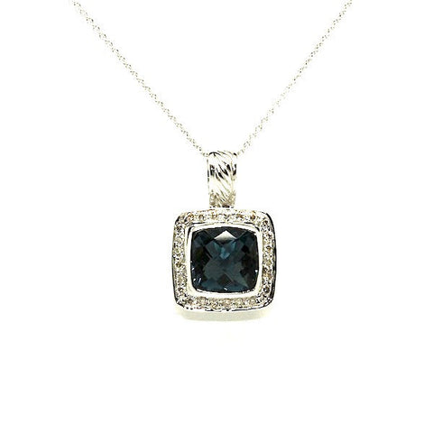 London Blue Topaz And Diamond Pendant AD No. 0756