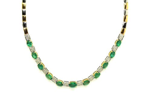 Emerald Diamond Necklace Ad No.0650